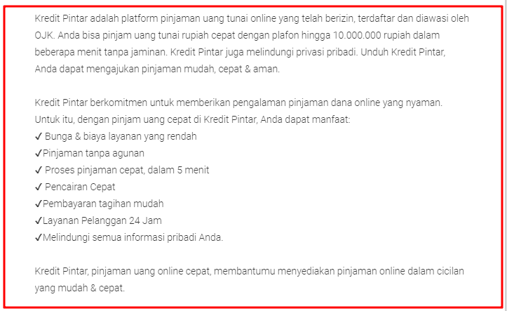 Lengkap Download Kredit Pintar Apk via Google Play Store